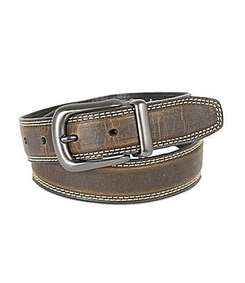 Class Club Contrast-Stitch Reversible Belt