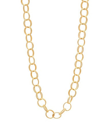 Betsey Johnson Textured Chain Necklace