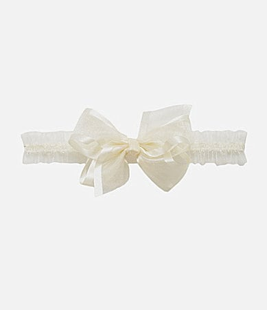 Starting Out Organza-Bow Ruffled Baby Headband