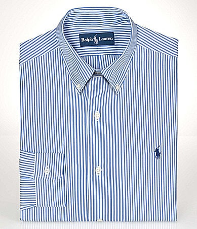 Polo Ralph Lauren Classic-Fit Striped Button-Down-Collar Dress Shirt