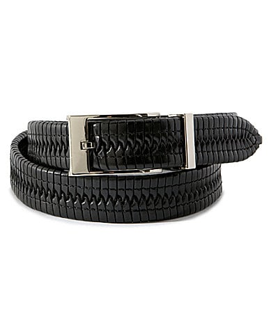 Cremieux Tubular Braided Leather Belt