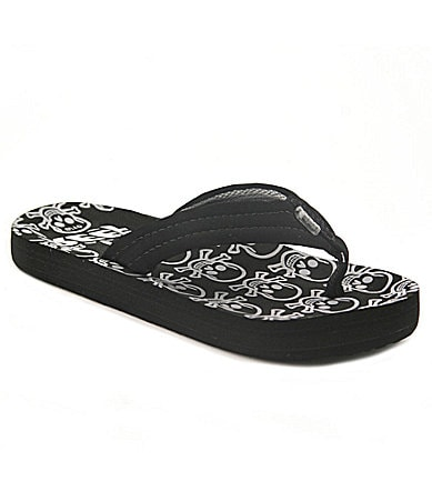 Reef Boys Ahi Skulls Thong Sandals