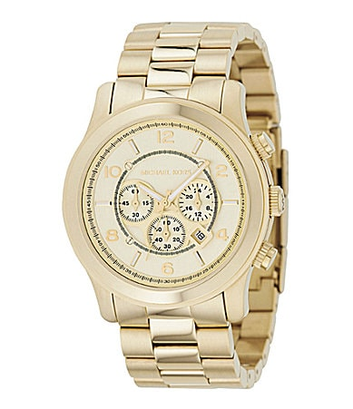 Michael Kors Men's Runway Champagne-Dial Chronograph Watch