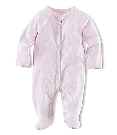Ralph Lauren Childrenswear Newborn Solid Footed Coverall