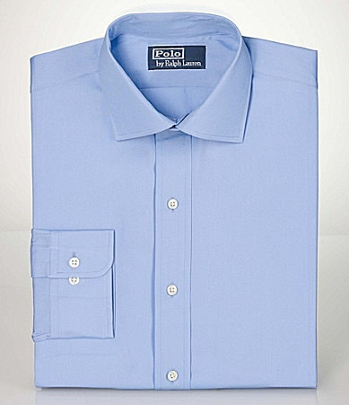 Polo Ralph Lauren Spread-Collar Broadcloth Classic-Fit Dress Shirt
