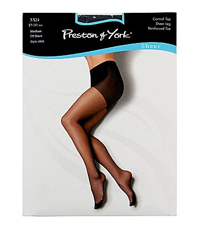 Preston & York Reinforced-Toe Sheer Hosiery