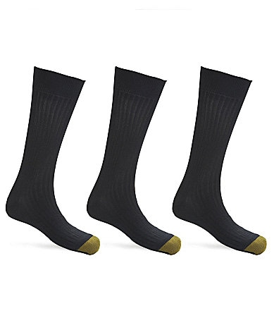 Gold Toe Softwear Ribbed Dress Socks 3-Pack
