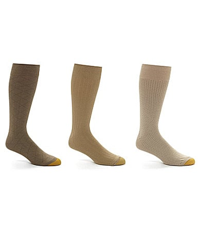 Gold Toe Extended Size Fashion Socks 3-Pack