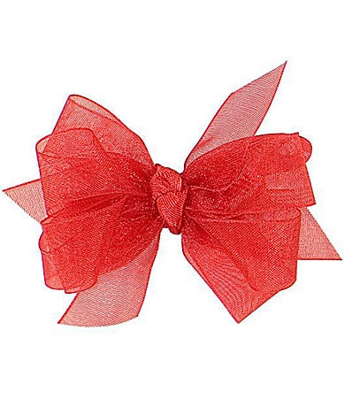 Starting Out Infant Red Organza Bow