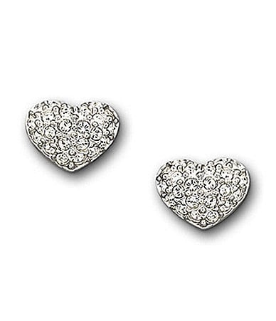 Swarovski Pave Heart Earrings
