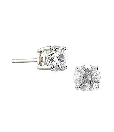 Crislu Round-Cut Cubic Zirconia Stud Earrings