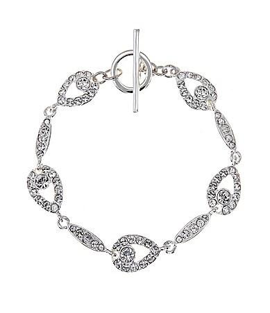 Cezanne Crystal Teardrop Bracelet