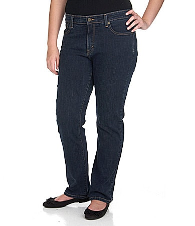 Levi�s Plus 512� Perfectly Shaping Straight-Leg Jeans