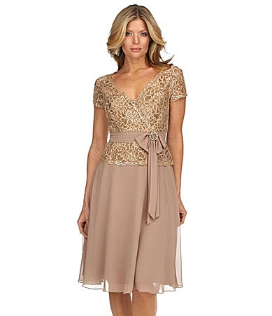 KM Collections Beaded Lace Dress