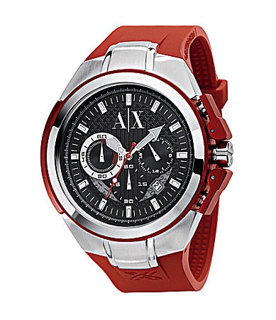 AX Armani Exchange Black-Dial Chronograph Watch