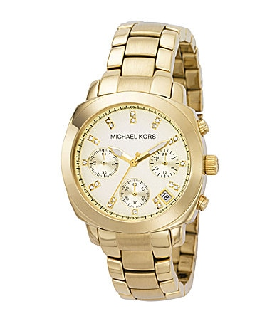 Michael Kors Crystal-Detail Chronograph Watch