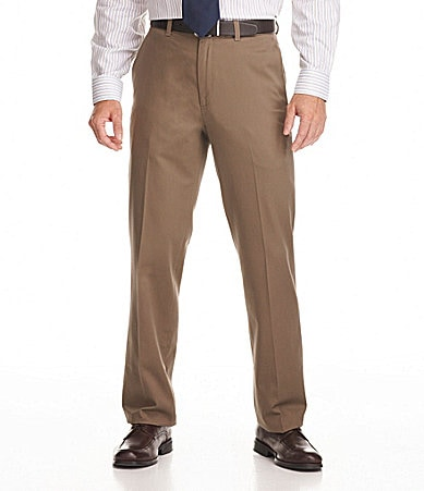 Perry Ellis Flat-Front No-Iron Gabardine Pants