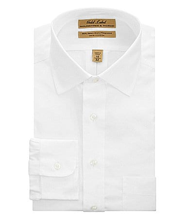 Roundtree & Yorke Gold Label Big & Tall No-Iron Spread-Collar Dress Shirt