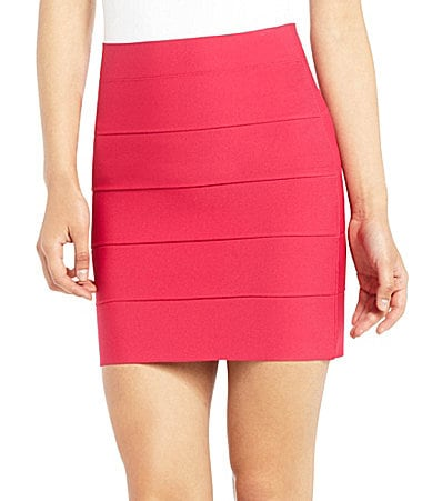 BCBGMAXAZRIA Banded High-Waist Power Skirt