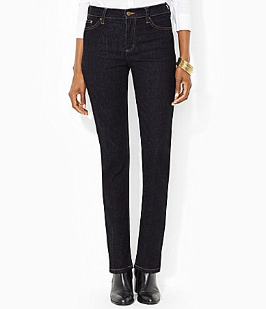 Lauren Jeans Co. Nolita Wash Stretch Straight Jeans