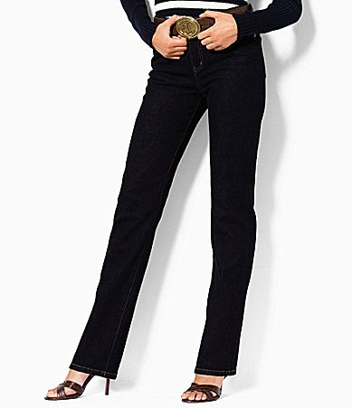 Lauren Jeans Co. Manhattan Wash Stretch Straight Jeans