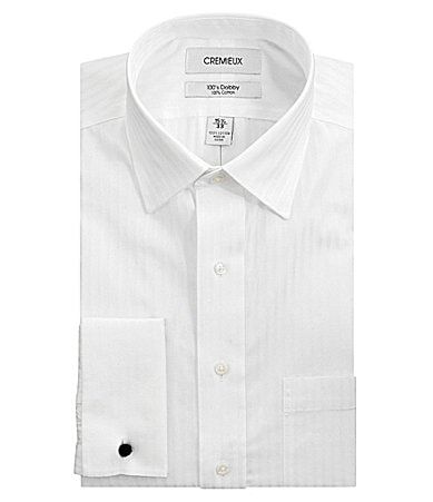 Cremieux French-Cuff Spread-Collar Dress Shirt