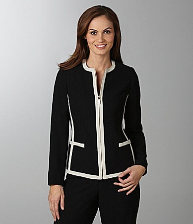 Peter Nygard Contrast-Trim Jacket