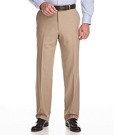 Hart Schaffner Marx Tailored Flat-Front Dress Pants
