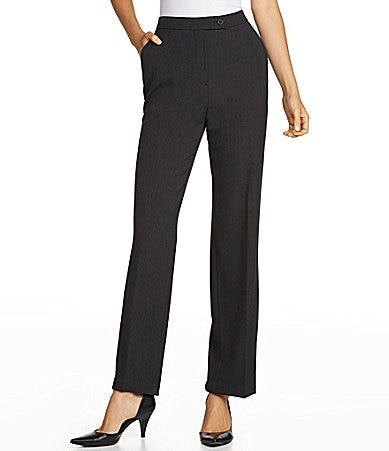 Investments Petites MADISON AVE fit SLIM FX  Comfort Control Straight-Leg Pants