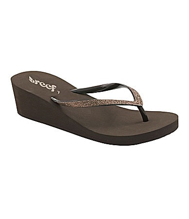 Reef Krystal Star Thong Wedge Sandals
