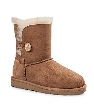 UGG Australia Girls� Bailey Button Boots