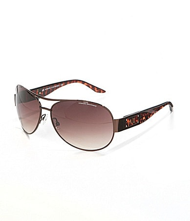 Armani Exchange Metal Aviator Sunglasses