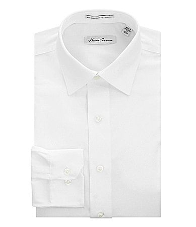Kenneth Cole New York No-Iron Spread-Collar Fitted Dress Shirt