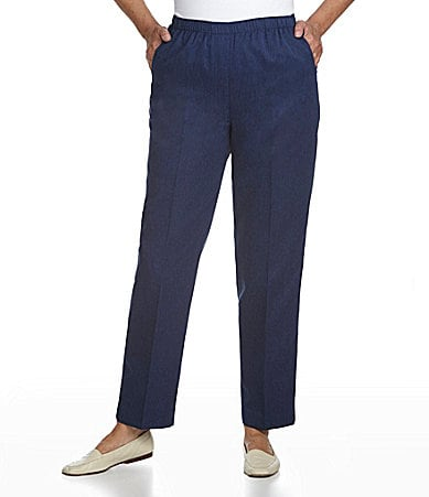Allison Daley Mock-Fly Pull-On Pants