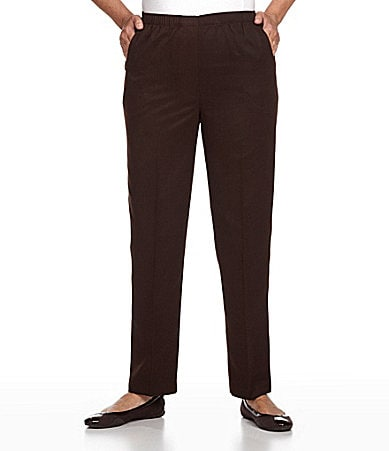 Allison Daley II Mock-Fly Pull-On Pants