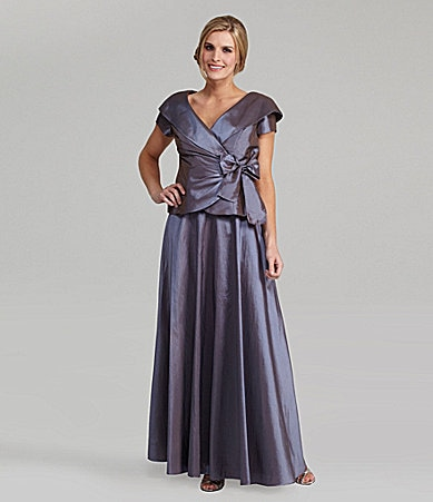 Alex Evenings Taffeta 2-Piece Gown