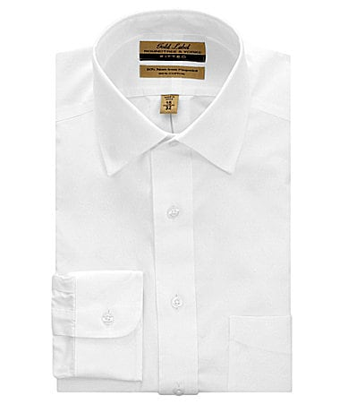 Gold Label Roundtree & Yorke No-Iron Spread-Collar Fitted Dress Shirt