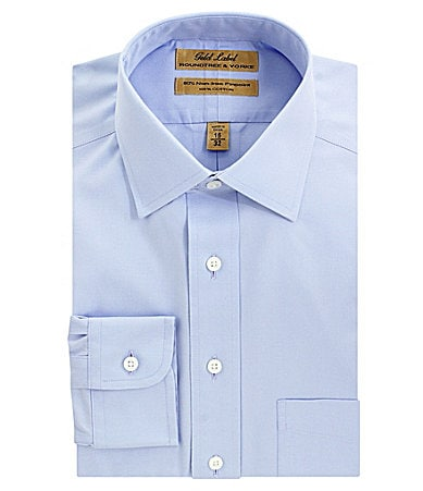 Roundtree & Yorke Gold Label No-Iron Spread-Collar Dress Shirt