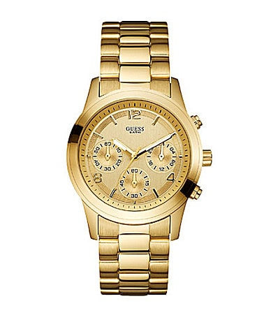 Guess Gold-Dial Chronograph Watch