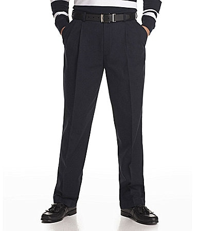 Roundtree & Yorke Big & Tall Pleated Expander Chino Pants