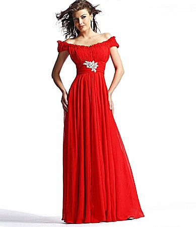 Scala Off-the-Shoulder Gown