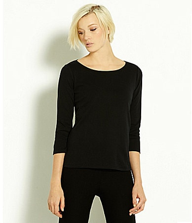 Eileen Fisher Essentials Ballet-Neck Top