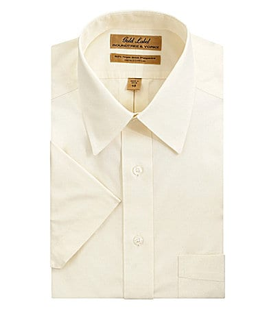 Roundtree & Yorke Gold Label No-Iron Point-Collar Dress Shirt