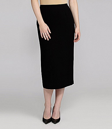 Peter Nygard Long Crepe Skirt