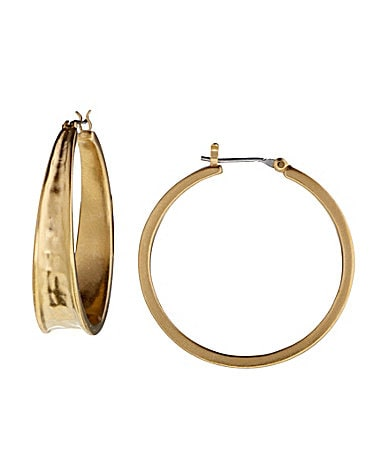 Lauren Ralph Lauren Hammered Hoop Earrings
