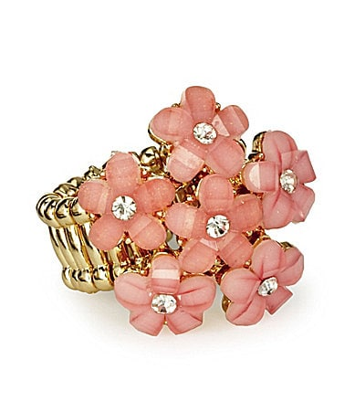 Anna & Ava Flower-Cluster Stretch Ring