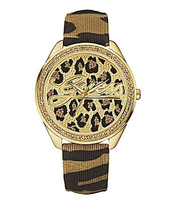 Guess 25th Anniversary Signature Leopard-Print Watch