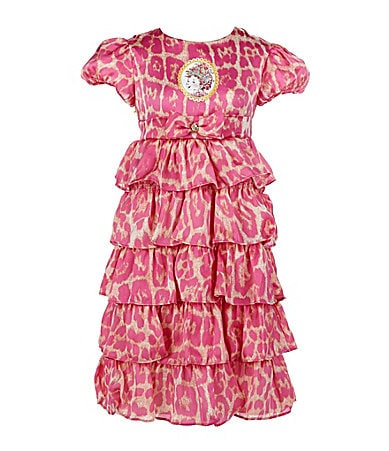 Fancy Nancy 2T-6X Multi-Tier Dress