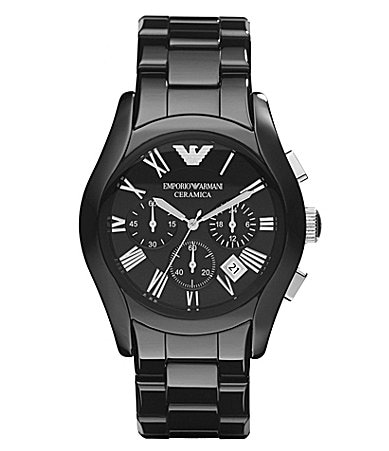 Emporio Armani Black Ceramic Chronograph Watch