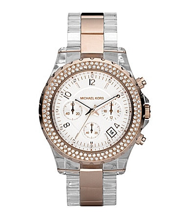 Michael Kors Madison Lucite-Detail Chronograph Sports Watch